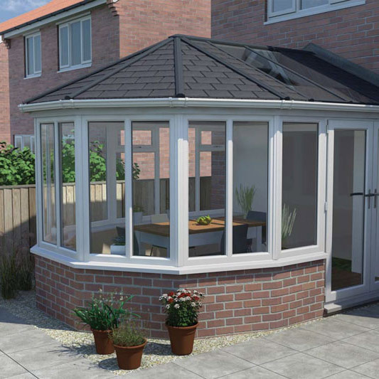 tiled solid roof conservatories