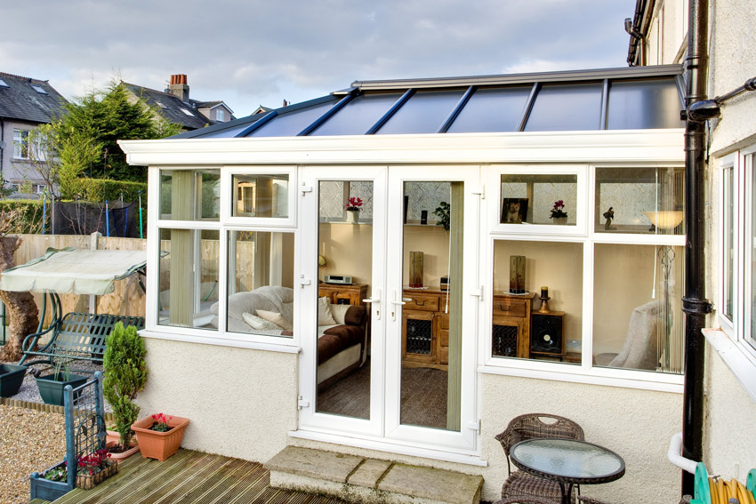 contemporary glass conservatory