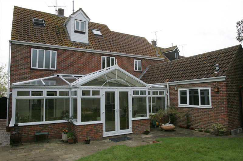 wide UPVC conservatory