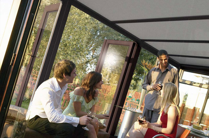 lean-to UPVC conservatory