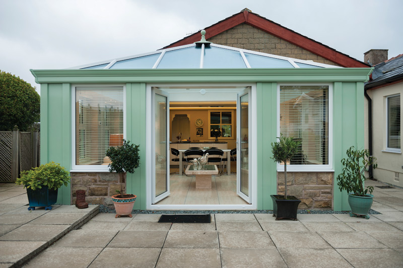 gable glass roofed conservatory