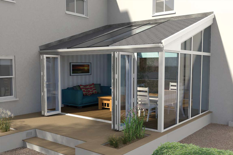 solid tiled roof extension