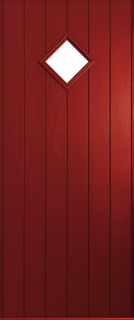 composite front door red