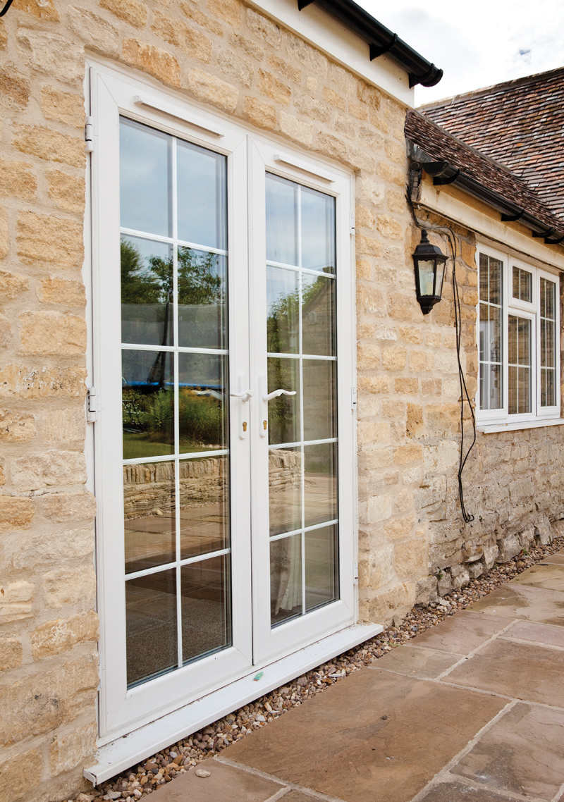 French patio doors external upvc french doors mark for Wood effect upvc french doors